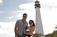 Cape May Lighthouse Couple, Key Biscayne portrait